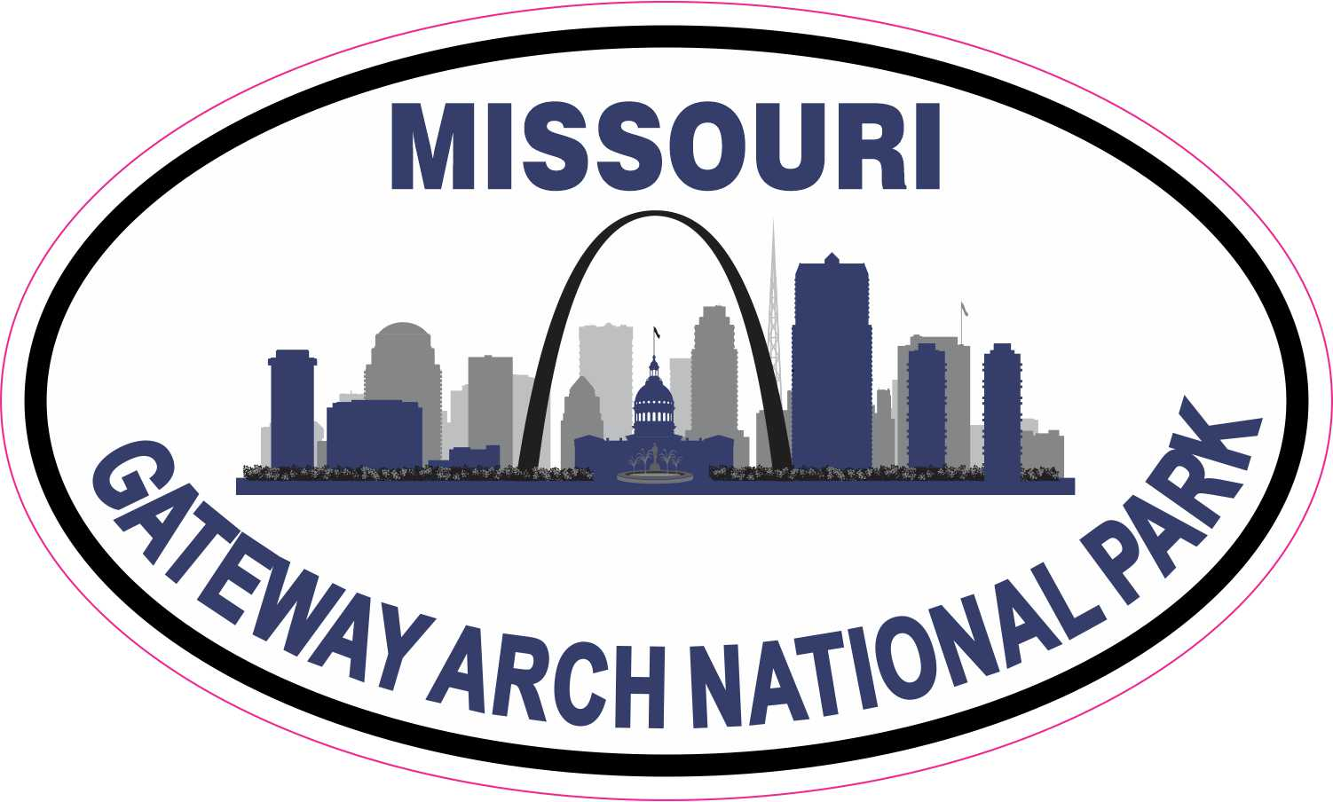 Gateway Arch National Park Sticker Decal R7115 Missouri YOU CHOOSE SIZE