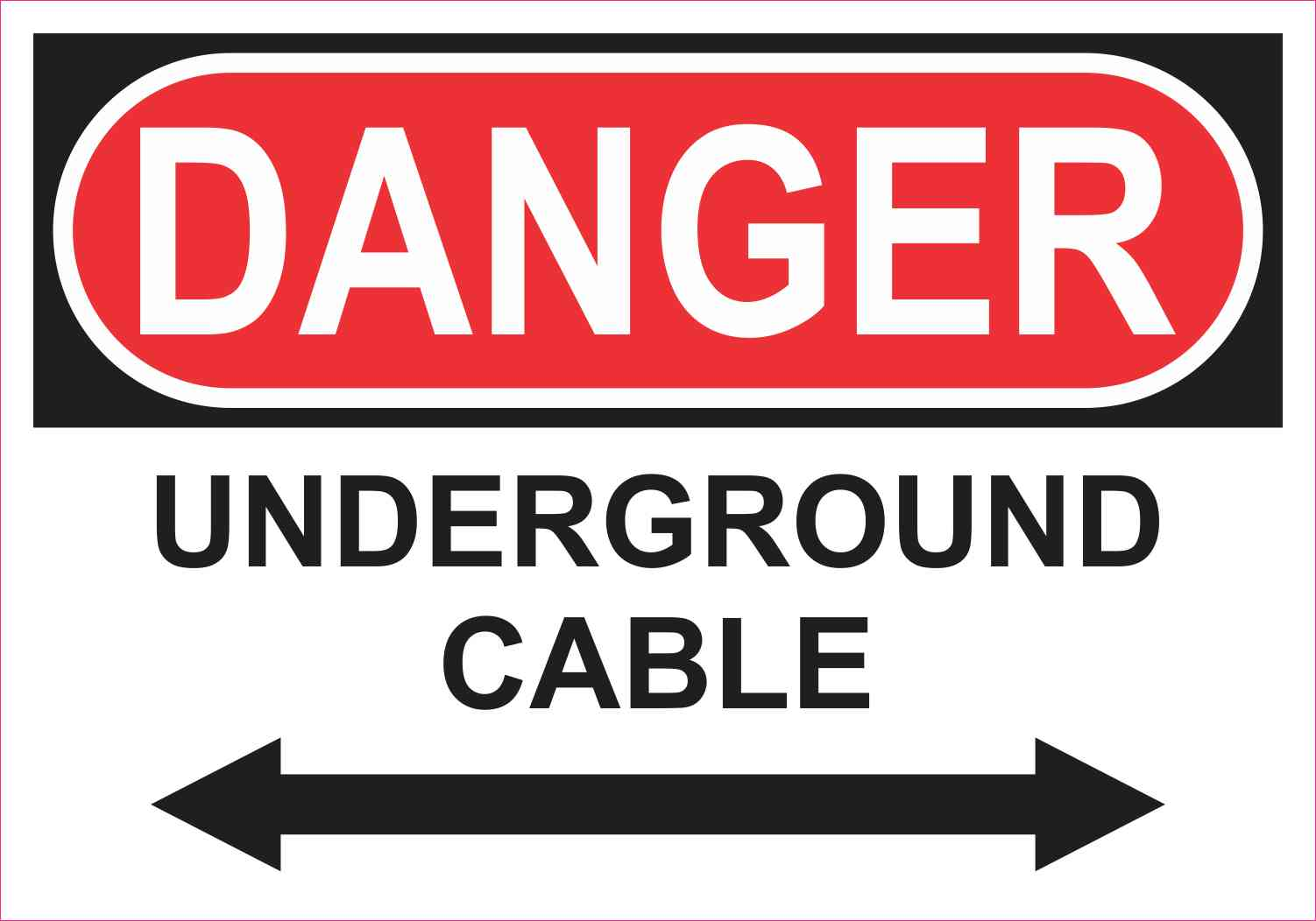 Danger Underground Cable Magnet
