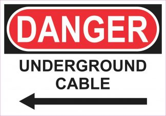 Left Arrow Danger Underground Cable Magnet
