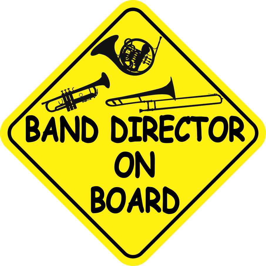 Band Director On Board Magnet