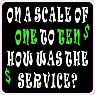 On a Scale of One to Ten Tip Sticker