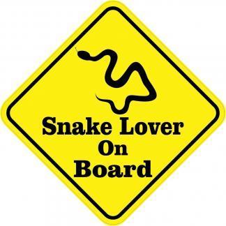 Snake Lover On Board Magnet