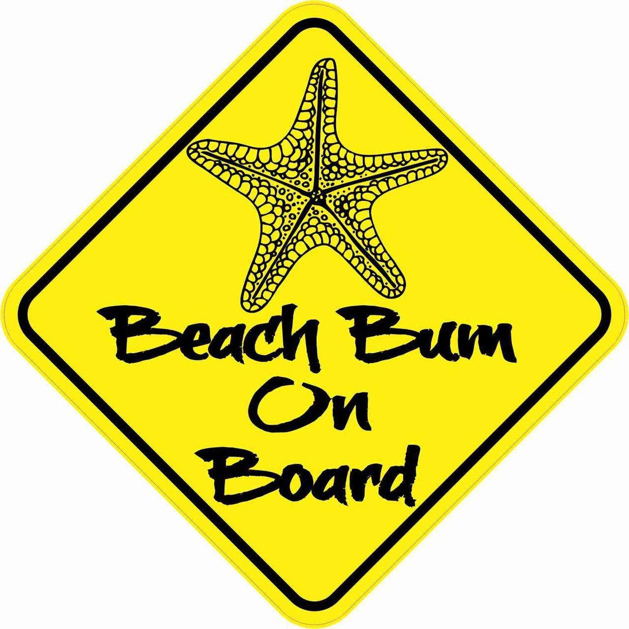 Beach Bum On Board Magnet