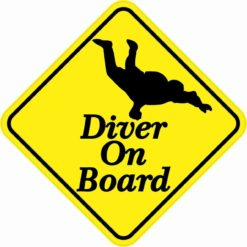 Skydiving Diver On Board Sticker