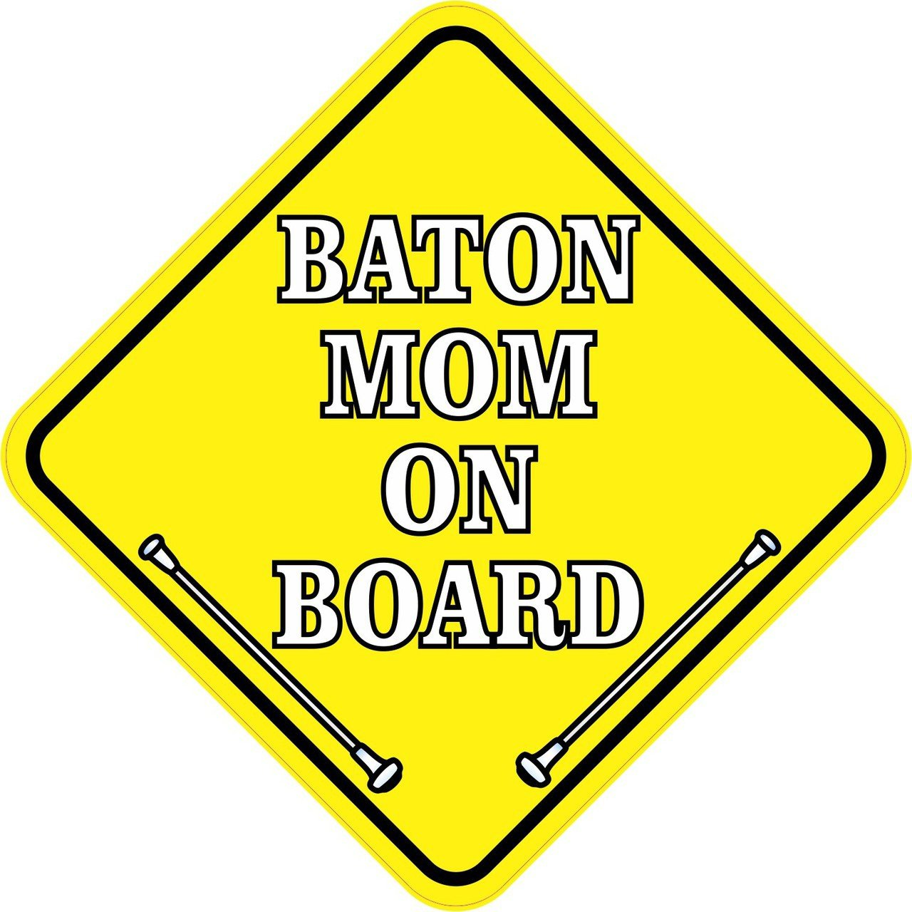 Baton Mom On Board Magnet