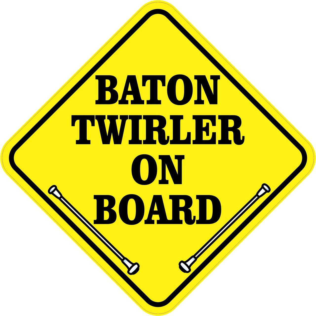 Baton Twirler On Board Magnet