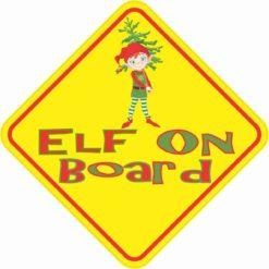 Elf On Board Sticker