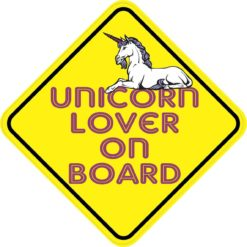 Unicorn Lover On Board Sticker