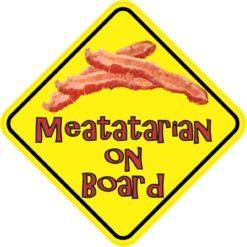 Meatatarian On Board Sticker