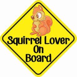 Squirrel Lover On Board Sticker