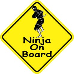 Ninja On Board Sticker