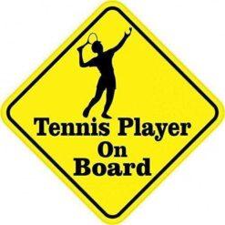 Tennis Player On Board Sticker