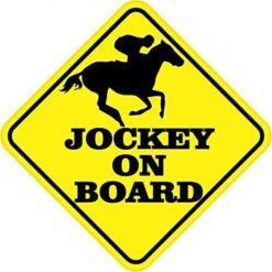 Jockey On Board Magnet
