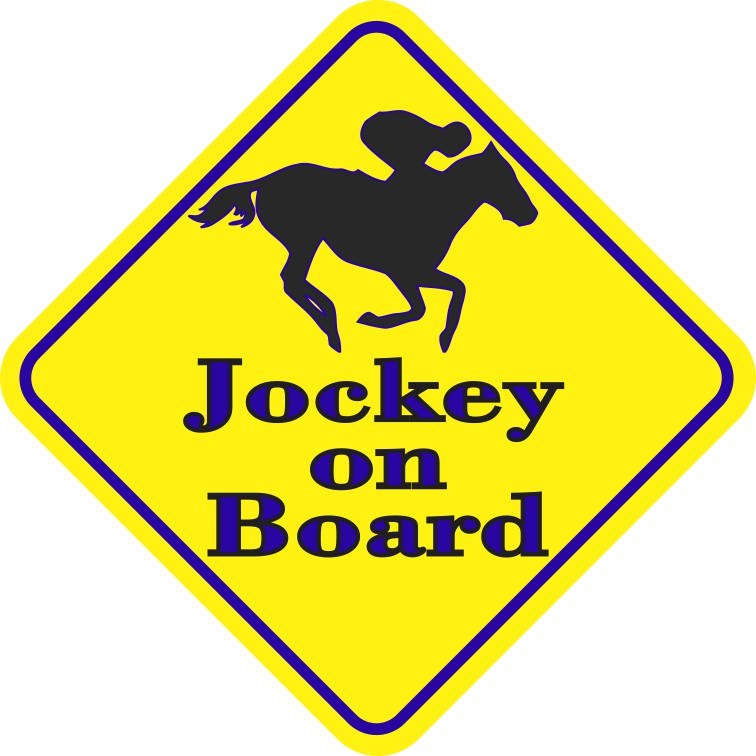 Blue Jockey On Board Magnet