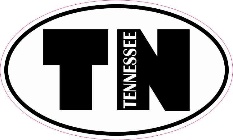 Oval TN Tennessee Sticker