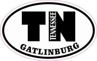 Oval TN Gatlinburg Tennessee Sticker
