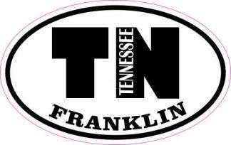 Oval TN Franklin Tennessee Sticker
