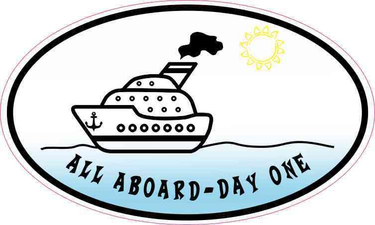 Oval All Aboard - Day One Sticker