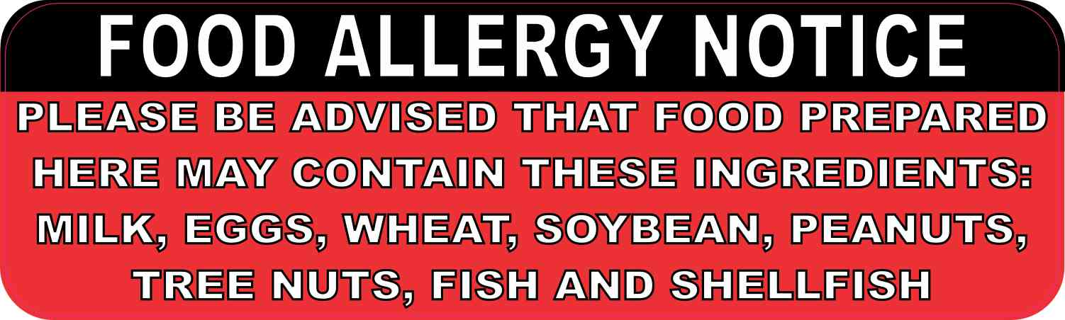 Food Allergy Notice Magnet
