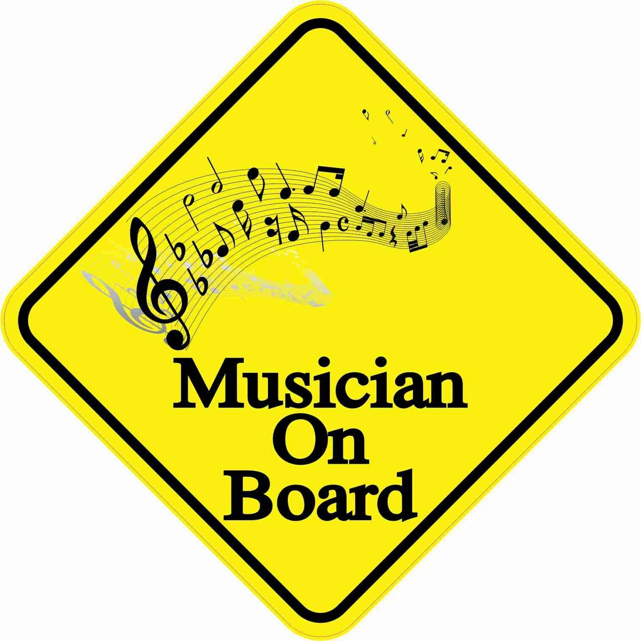 Musician On Board Magnet