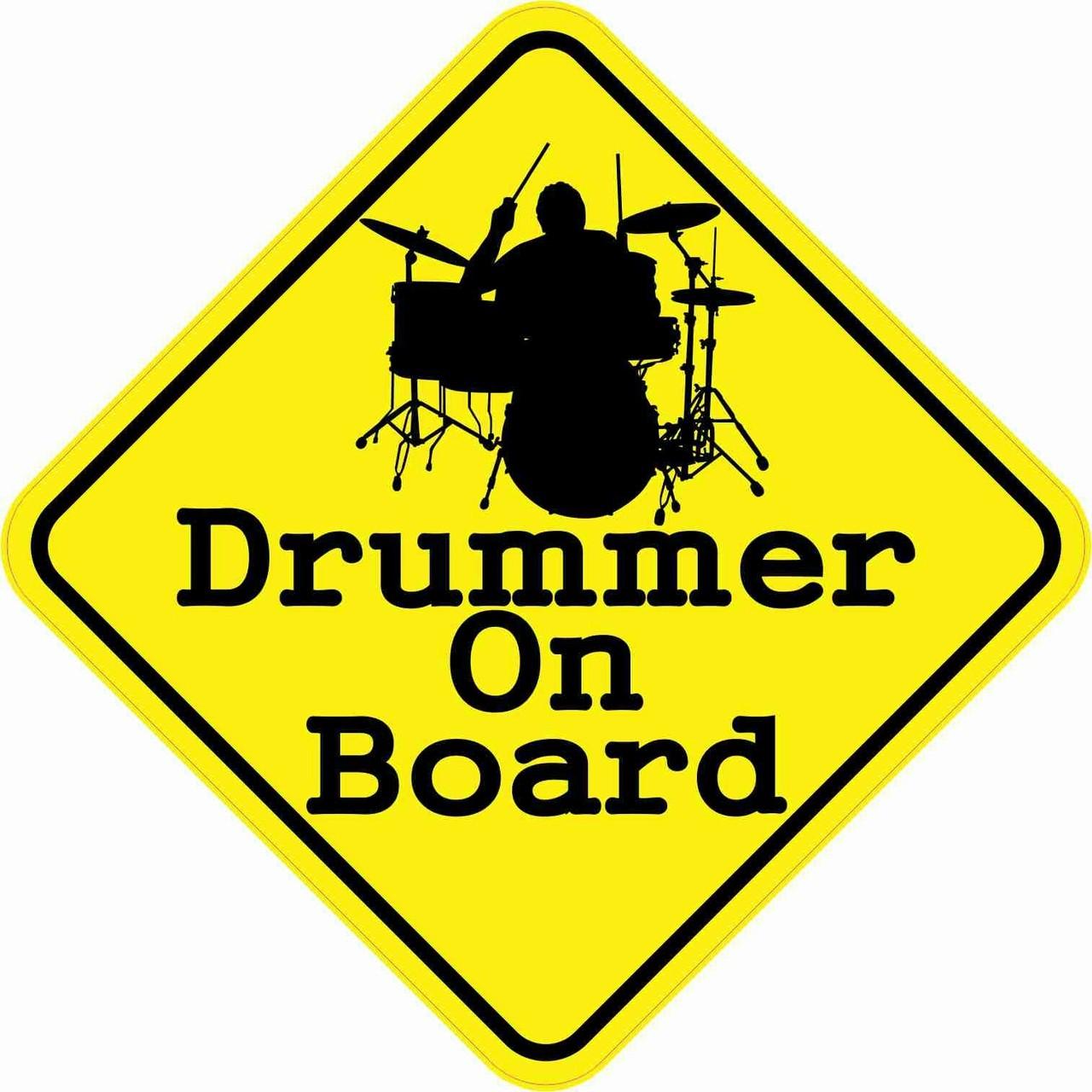 Drummer On Board Magnet