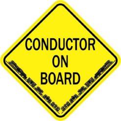 Train Conductor On Board Sticker