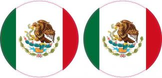 Circle Mexico Flag Stickers