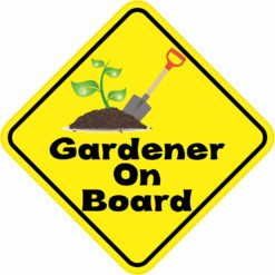 Gardener On Board Sticker