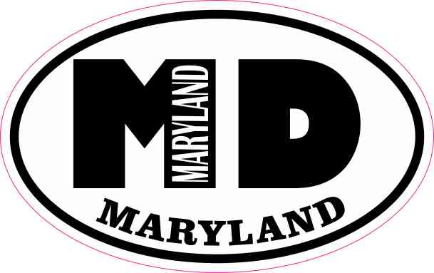 Oval MD Maryland Sticker