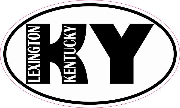Oval KY Lexington Kentucky Sticker
