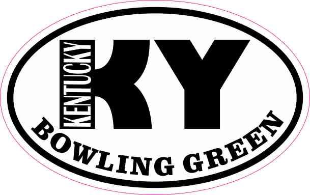 Oval KY Bowling Green Kentucky Sticker