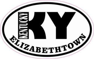 Oval KY Elizabethtown Kentucky Sticker