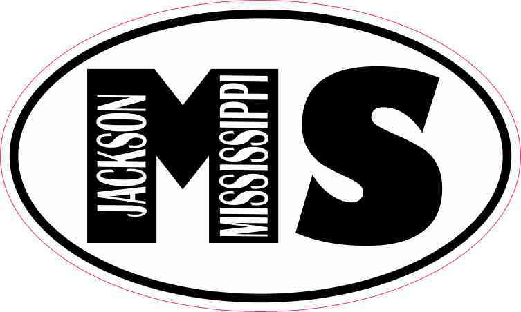 Oval MS Jackson Mississippi Sticker
