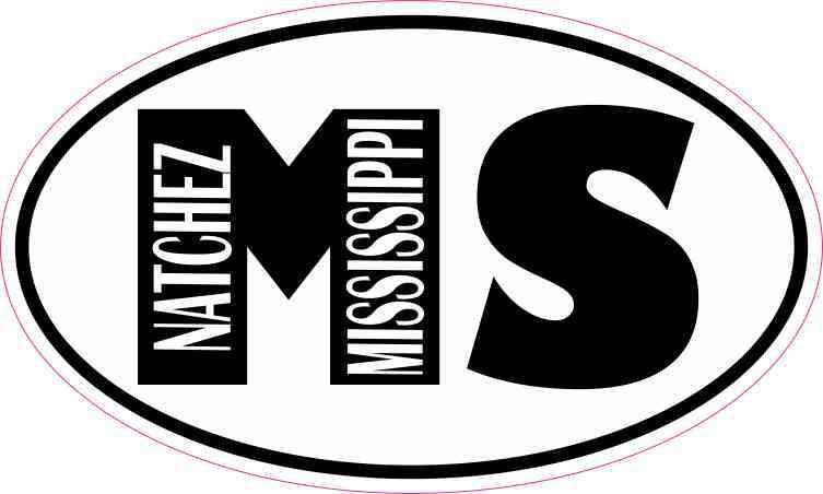 Oval MS Natchez Mississippi Sticker