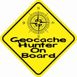 Geocache Hunter On Board Sticker