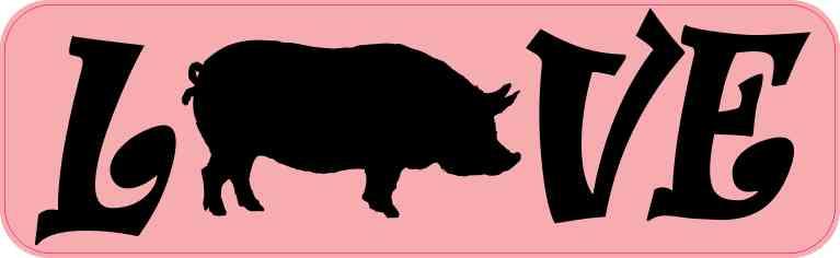 Love Pig Sticker