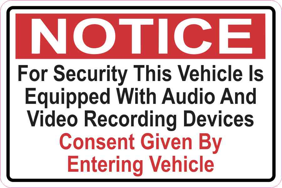 Audio And Video Recording Consent Magnet