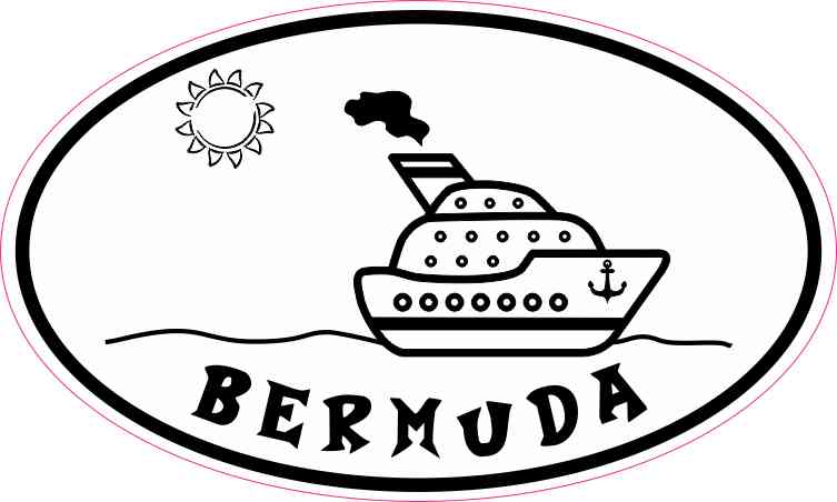 Cruise Ship Oval Bermuda Sticker