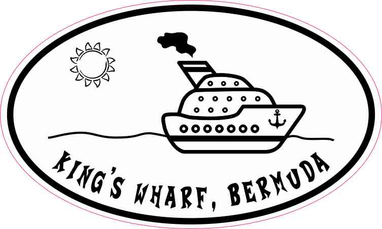 Cruise Ship Oval King's Wharf Sticker