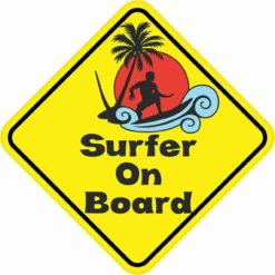 Surfer On Board Sticker