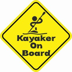 Kayaker On Board Magnet