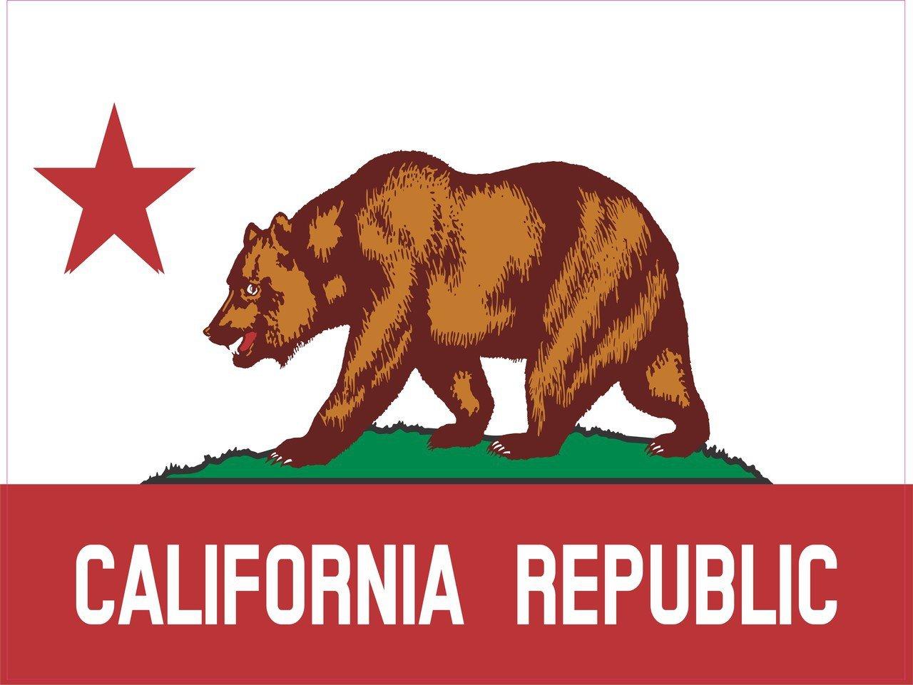 California State Flag Sticker