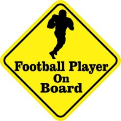 Football Player On Board Sticker
