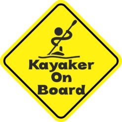 Kayaker On Board Sticker