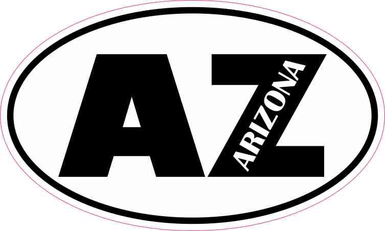 Oval AZ Arizona Sticker