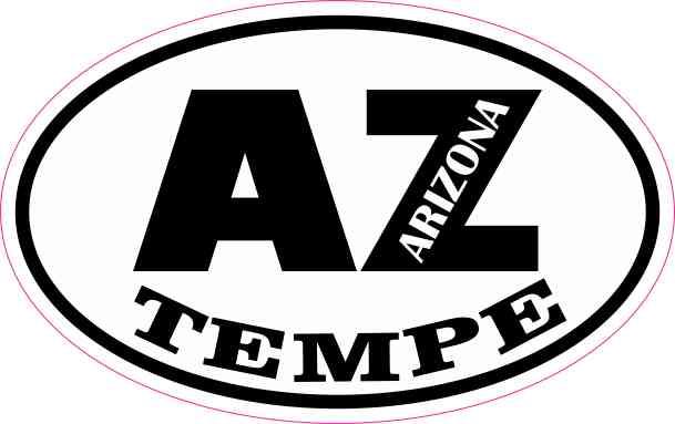 Oval AZ Tempe Arizona Sticker