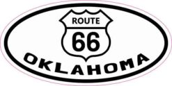 Oval Route 66 Oklahoma Sticker