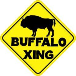 Buffalo Crossing Sticker