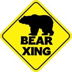 Bear Crossing Sticker