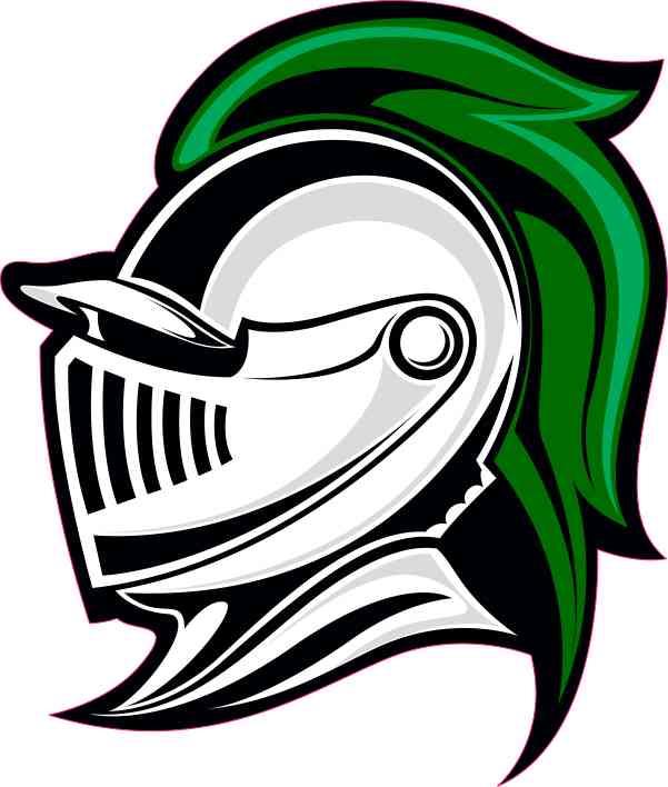 Left-Facing Green Knight Mascot Sticker